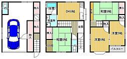 JR片町線(学研都市線) 放出駅 徒歩14分 5DKの間取り