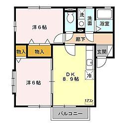SAKURA Garden A[2階]の間取り