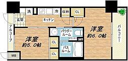 エステムプラザ大阪城パークフロント[5階]の間取り