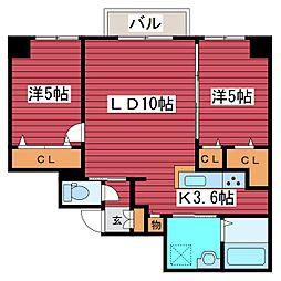 北海道札幌市豊平区月寒中央通7丁目の賃貸マンションの間取り