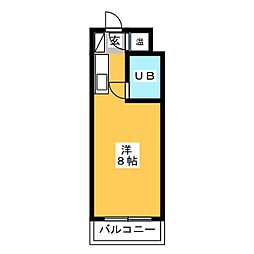 ライオンズマンションJOY博多[9階]の間取り