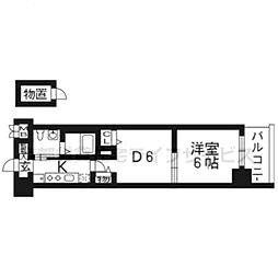 エステムプラザ京都三条大橋211[2階]の間取り