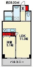 MDI フォレストガーデン 三ヶ森[602号室]の間取り