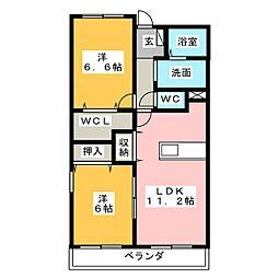 クレディア21[1階]の間取り