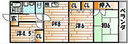 KMハイツI[1階]の間取り