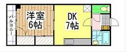 福岡県北九州市八幡西区大浦2丁目の賃貸マンションの間取り