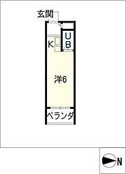 スタジオ26[2階]の間取り