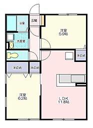 コンフォートHinano[2階]の間取り