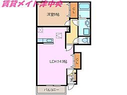 三重県津市神納町の賃貸アパートの間取り