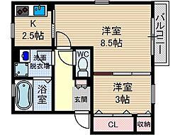 リンデンバウム D棟[1階]の間取り