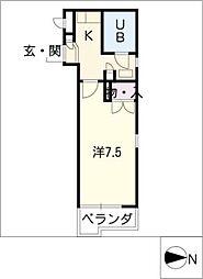 レオパレス21RX豊田本町[2階]の間取り