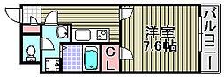 クレイノグランメゾン アオイ[205号室]の間取り