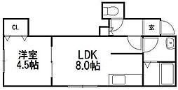 ノーザンライツ[2階]の間取り