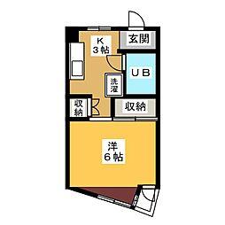 コーポ御幸山[2階]の間取り