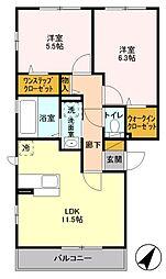 コンフォート町田[3階]の間取り