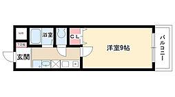 愛知県日進市岩崎町野田の賃貸アパートの間取り