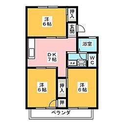 セジュール瀬戸川[1階]の間取り