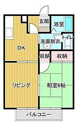 ロワールII[2階]の間取り