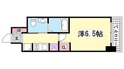 エステムプラザ神戸三宮ルクシア[208号室]の間取り