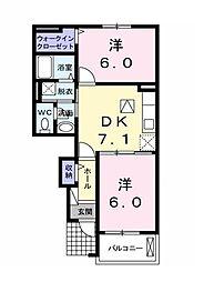 プレジールIII[1階]の間取り