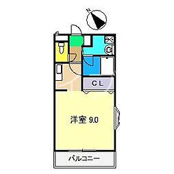 ファステ・テーム[2階]の間取り