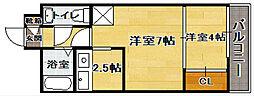 エステートモアシャトー薬院 バリュー[9階]の間取り