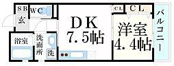アソシオン 3階1LDKの間取り