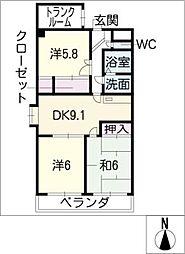シャローム・ビオン・R[4階]の間取り