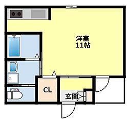 愛知環状鉄道 三河豊田駅 徒歩8分の賃貸アパート 1階1Kの間取り