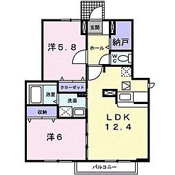 プリムローズI[1階]の間取り