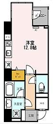 Osaka Metro四つ橋線 西梅田駅 徒歩3分の賃貸マンション 9階1Kの間取り