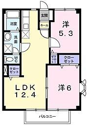 兵庫県神戸市西区丸塚2丁目の賃貸アパートの間取り