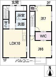 [タウンハウス] 愛知県清須市一場 の賃貸【愛知県 / 清須市】の間取り