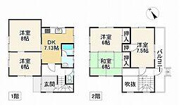 JR東海道・山陽本線 朝霧駅 徒歩22分 5DKの間取り