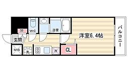 プレサンス京都二条京華 405[4階]の間取り