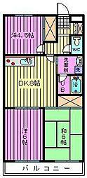 大成第2マンション[206号室]の間取り