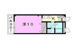 フォブールMISA[203 号室号室]の間取り