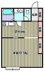 センターコートアネックス[2階]の間取り