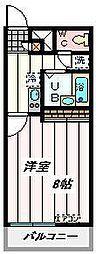 JR埼京線 南与野駅 バス9分 大泉院通り下車 徒歩4分の賃貸マンション 1階1Kの間取り