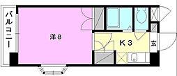 ジョイフル第2朝生田[201 号室号室]の間取り