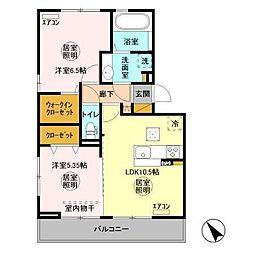仮)D-room金田東[1階]の間取り