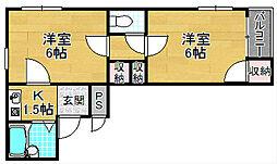 ほーむ21伊加賀[4階]の間取り