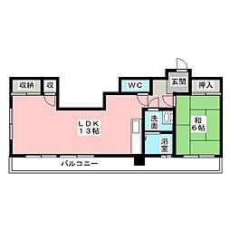 井駒ハイツ[4階]の間取り