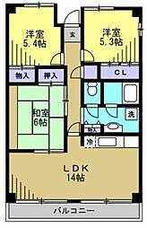 フラットフォーレスト[13階]の間取り