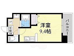仮)都島本通4丁目新築マンション 4階ワンルームの間取り