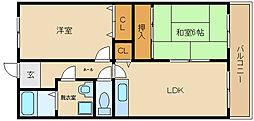 マンション ウメノ[1階]の間取り