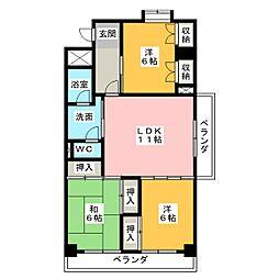 セゾンドシャトー[5階]の間取り