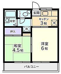 東京都杉並区高井戸西3丁目の賃貸マンションの間取り