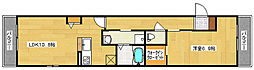 広島県安芸郡府中町宮の町2丁目の賃貸アパートの間取り