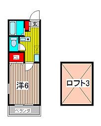 ハイツAI&KS[2階]の間取り